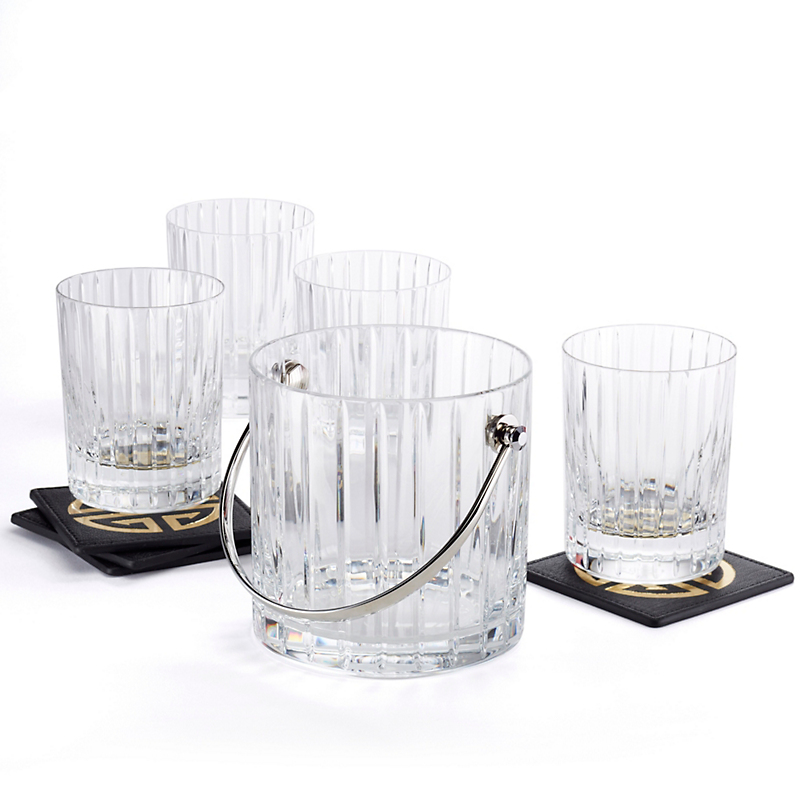 Baccarat Harmonie Ice Bucket & Set of 4 Tumblers