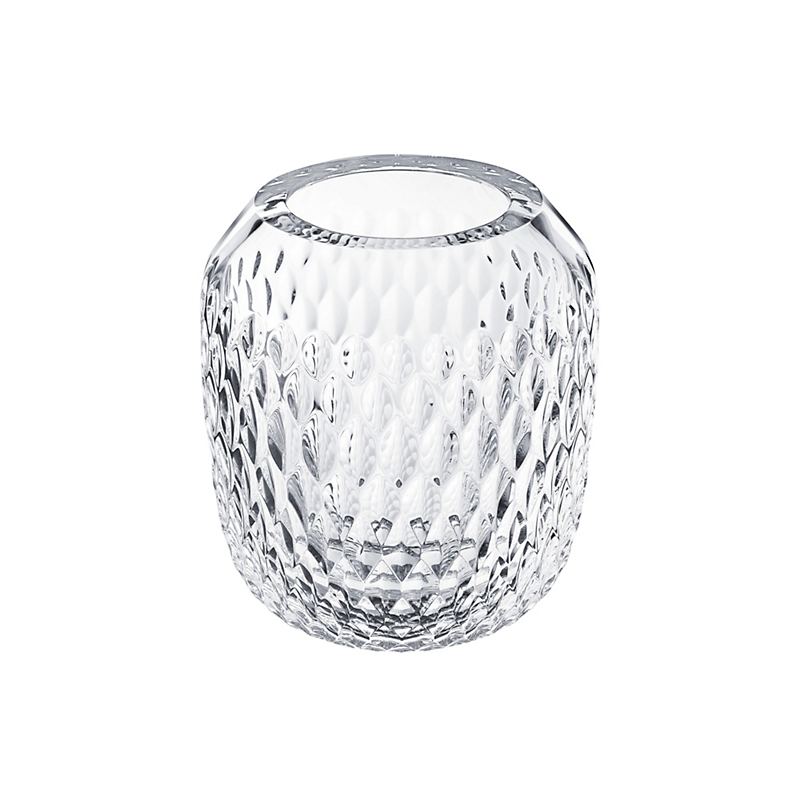 Saint-Louis Folia Vase, Small Clear