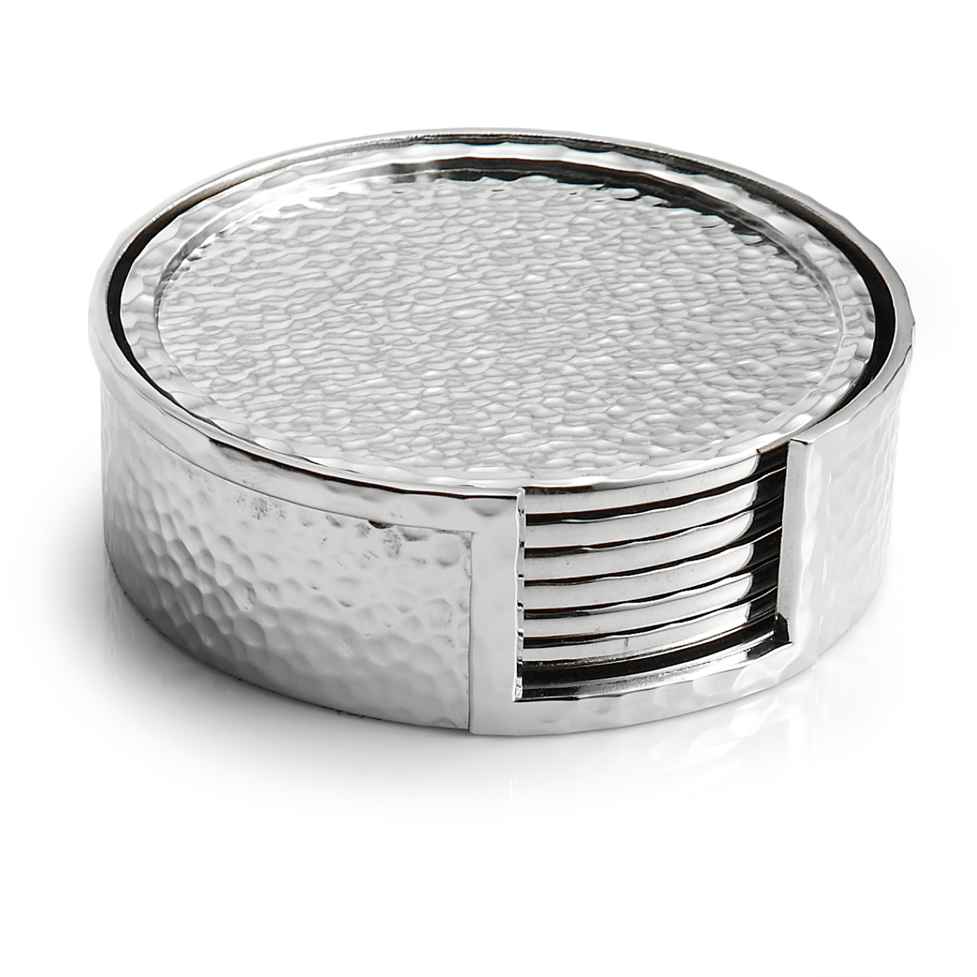 Michael Aram Hammertone Silver Coasters, Set of 6