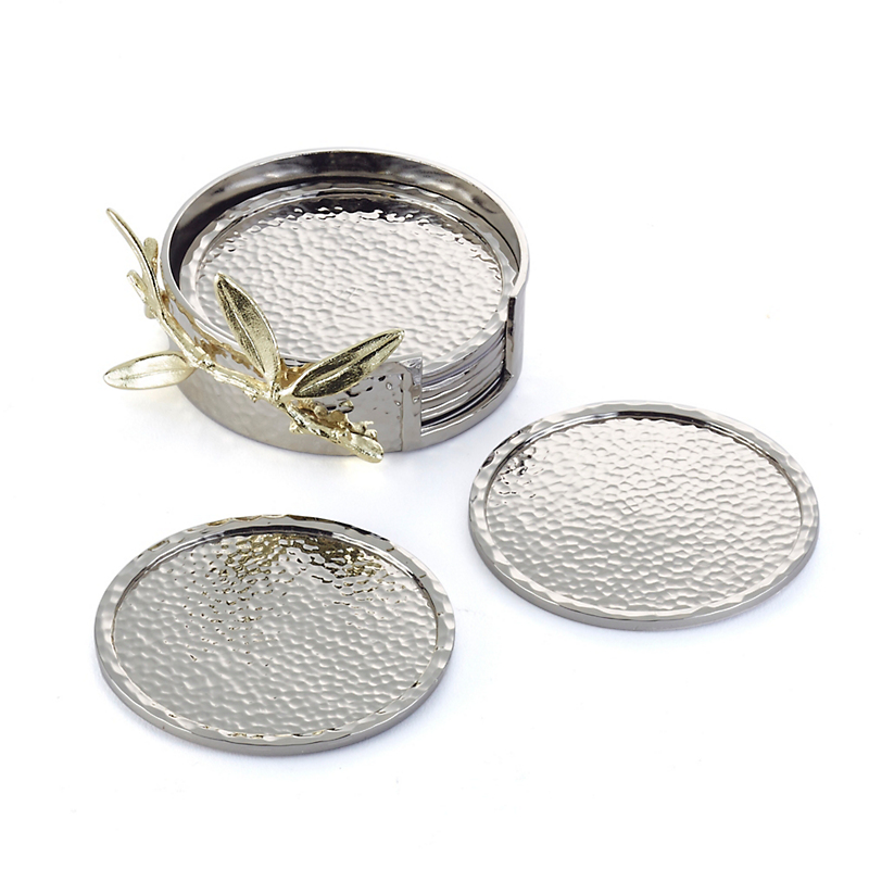 Michael Aram Olive Branch Coasters, Set of 6