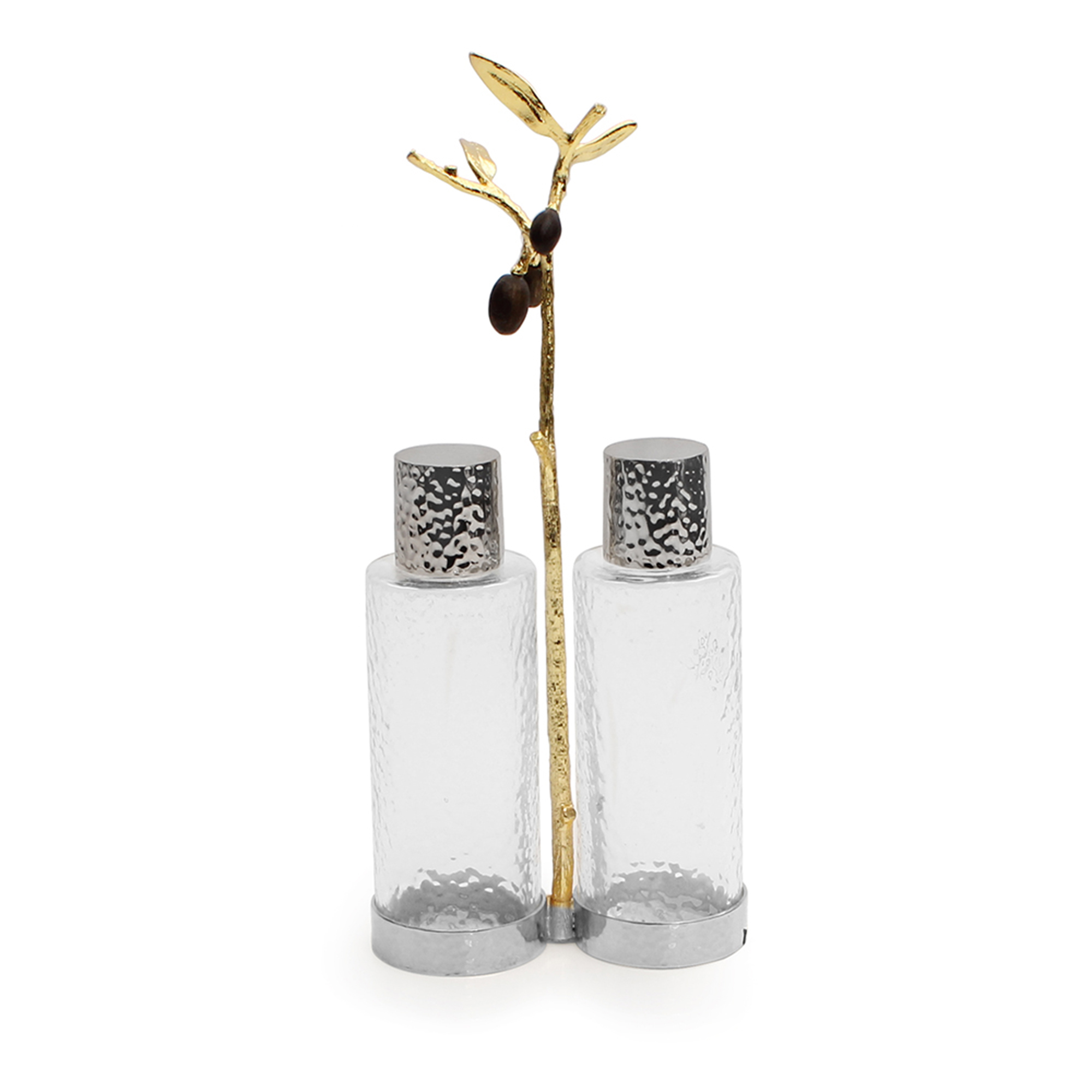 Michael Aram Olive Branch Gold Cruet Caddy