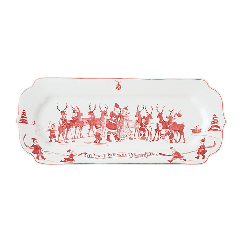 Juliska Reindeer Country Estate Tray, Ruby