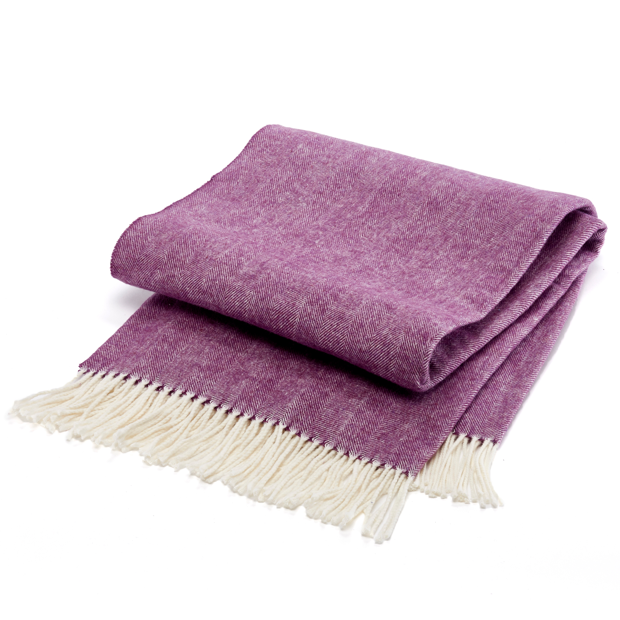 Herringbone Throw, Plum