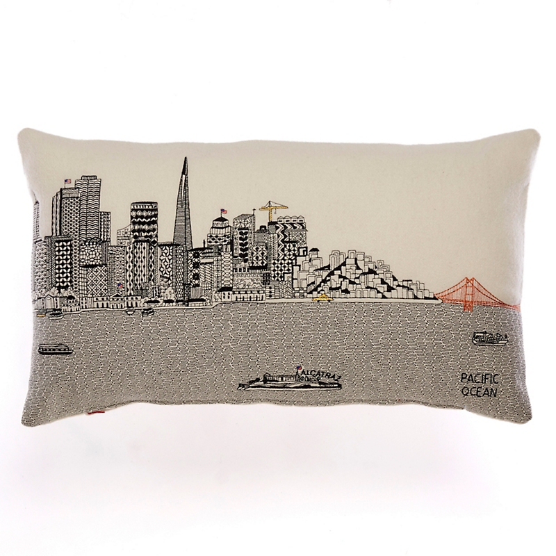 City Skyline Small Pillow, San Francisco