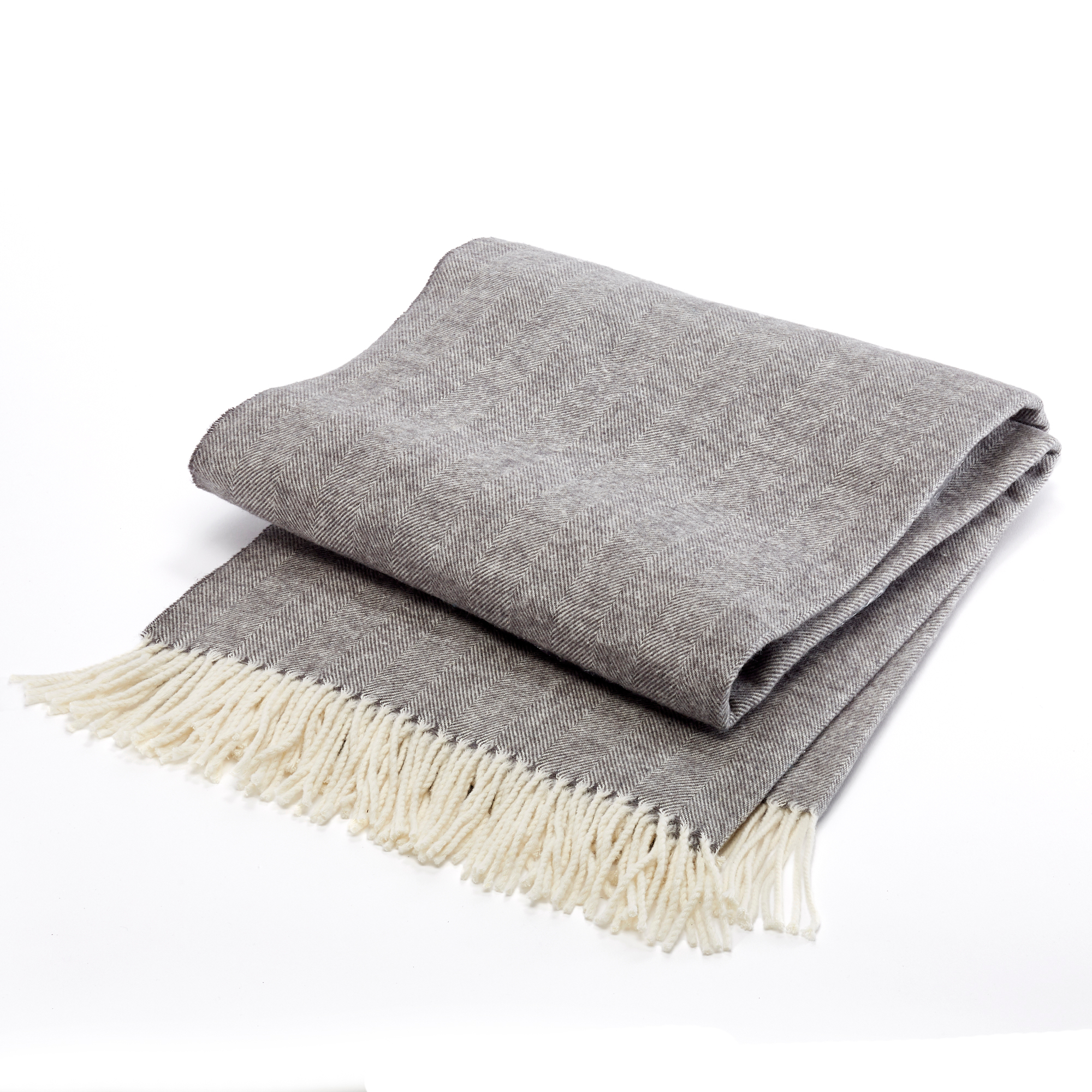 Herringbone Throw, Charcoal
