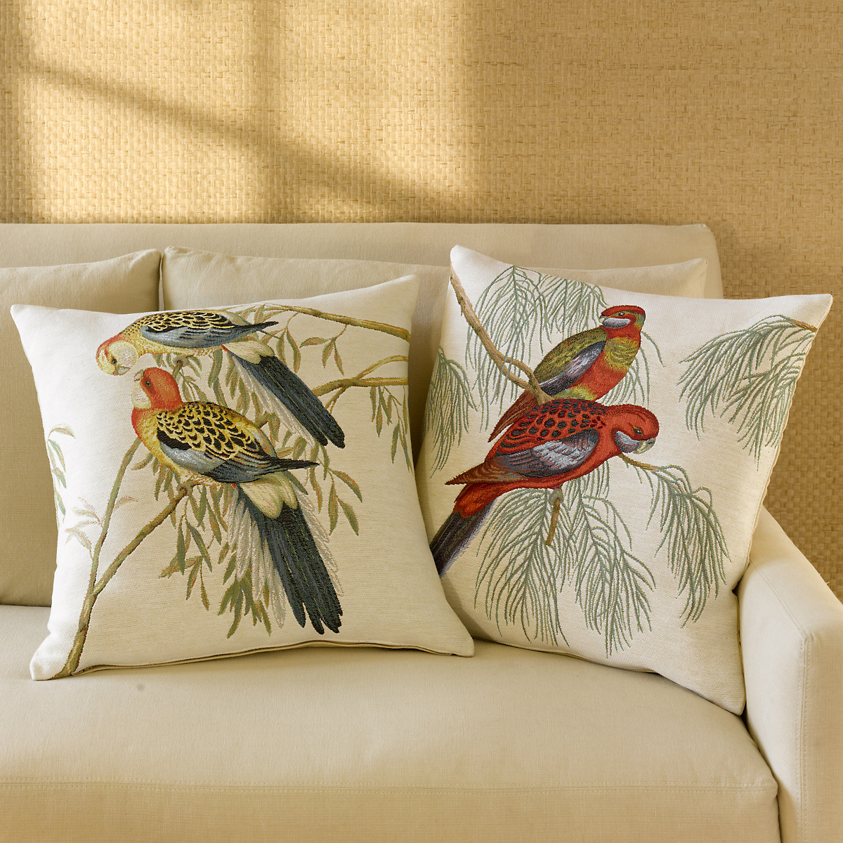 Parrot Tapestry Pillows