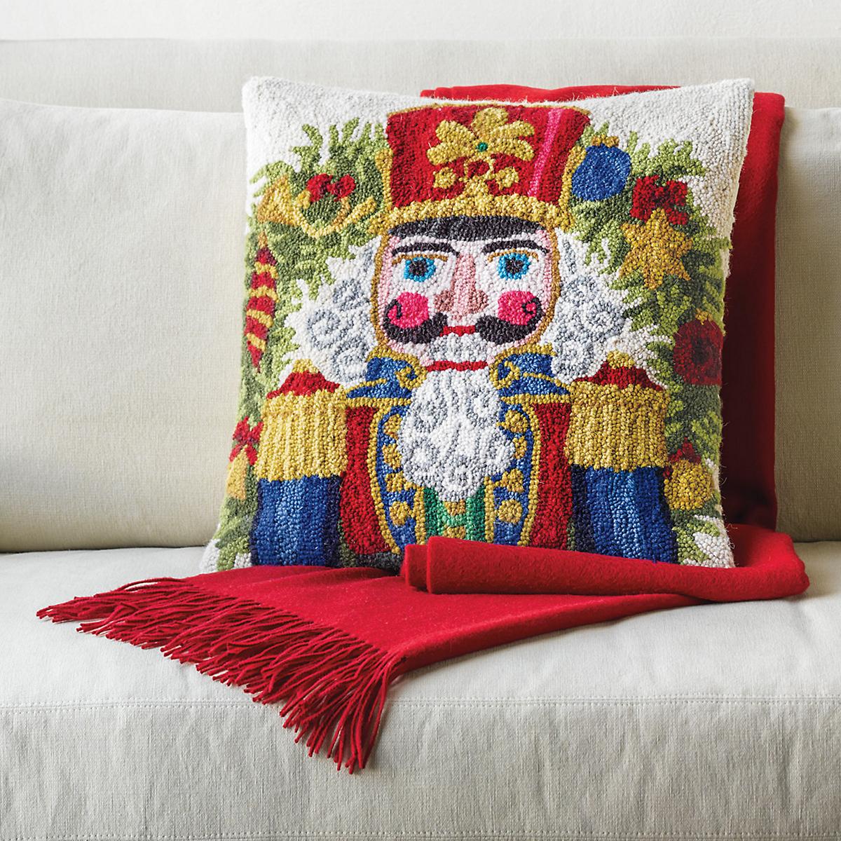Nutcracker Hooked Pillow