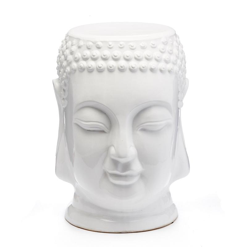 serene buddha garden stool